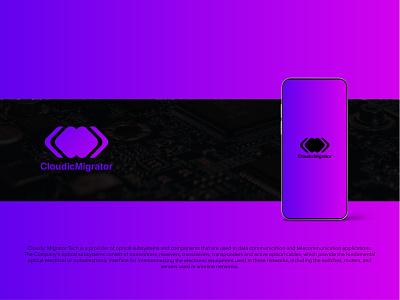 Cloudic Migrator Logo Design design logo modern logo maker minimalist logo design technology logo creative logo design tech logo