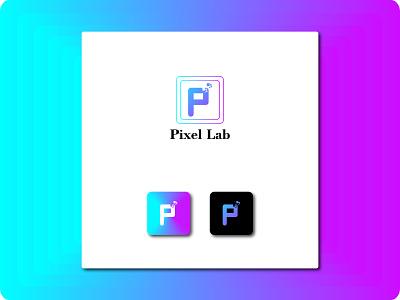 Pixel Lab logo logo maker minimalist logo modern creative colorful logo design pixel pixel lab
