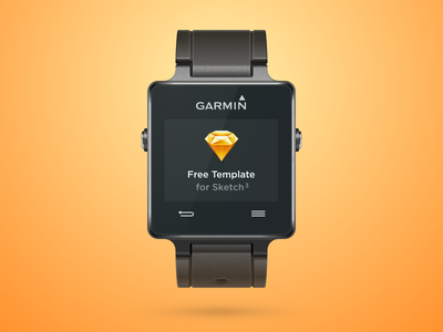 Garmin Vivoactive freebie smartwatch template gadget apple watch smartwatch garmin sketch