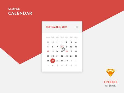 Calendar freebie holliday day date sketch calendar