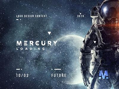 Mercury Logo Design Contest spaceman space future mercury development mercdev mercury logotype contest branding logo