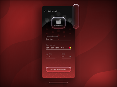DailyUI credit card checkout creative icon elegant class luxury gradient button checkout credit card red color design illustration art ux ui app dailyui hellodribbble