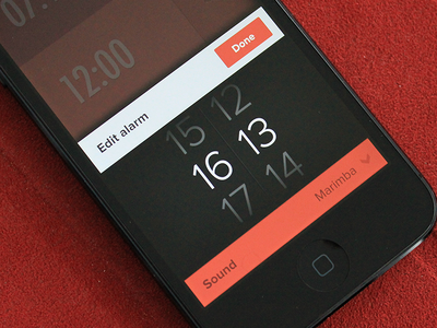 Alarmik - Edit mode subtle animations gestures clean simple ios iphone app clock alarm edit