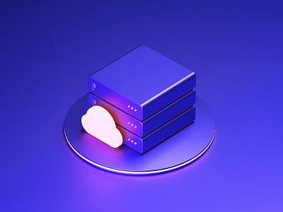 Cloud Storage icon network computing storage cloud storage cloud illustration c4d 3d icons icon