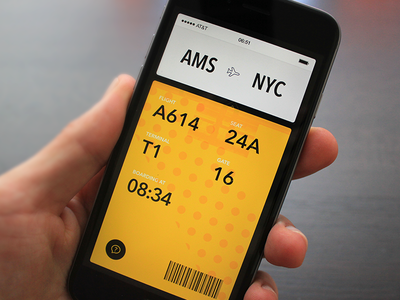 Boarding pass boarding pass gates flight airport travel itinerary iphone app ios8
