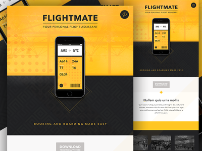 Website (concept) ios8 app iphone itinerary travel airport flight gates pass boarding