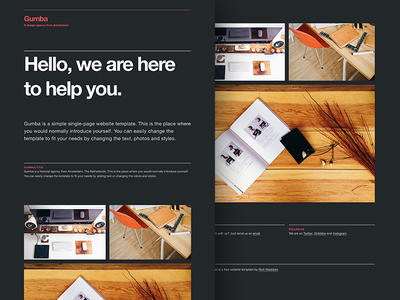 (Free) HTMLwebsite template free html website template download css html5 freebie