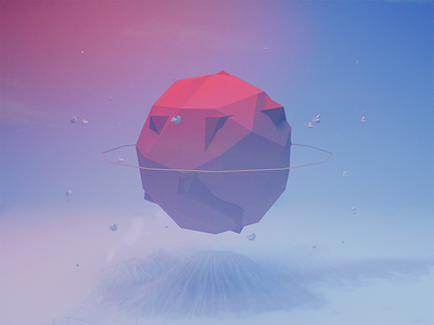Low poly globe low poly planet c4d cinema 4d globe