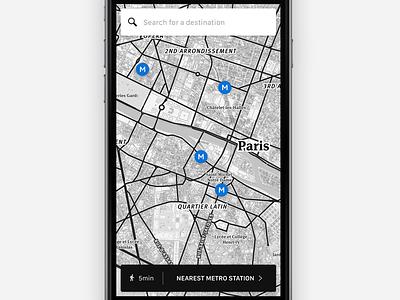Metro map nearby stations city paris travel app metro