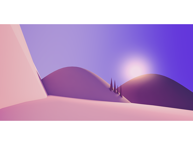 Sunrise desert sun mountains 3d cinema 4d c4d