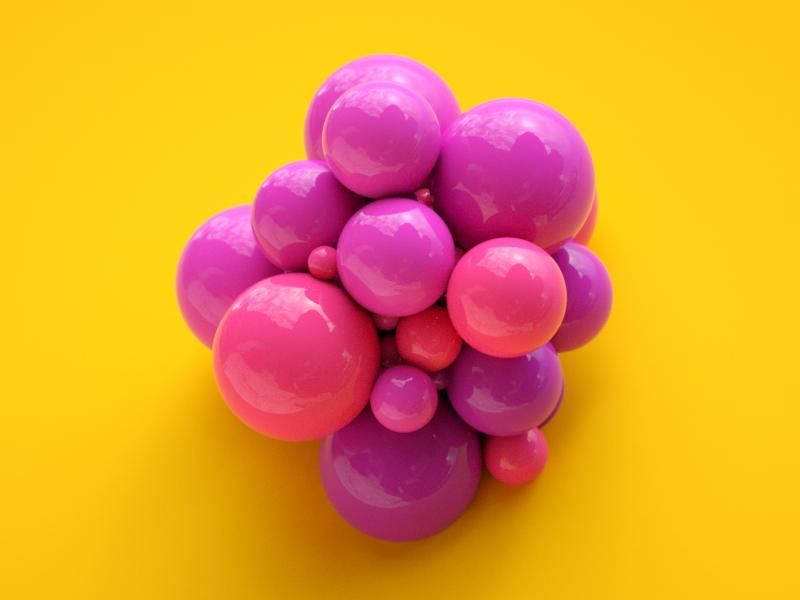 Balls 3d c4d octane cinema 4d octane render render