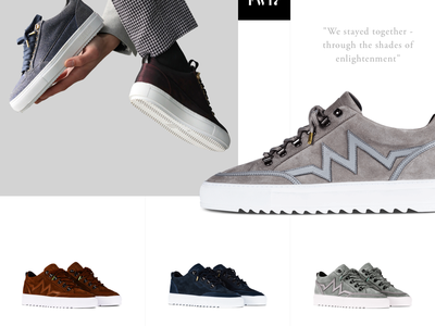 Mason Garments unsolicited redesign webdesign website redesign shoes