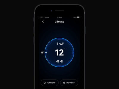 Car app: Climate Control control climate car assistant after effects c4d particles swirl ring ae 3d adobe ui ux after effects motion graphics 3d animation