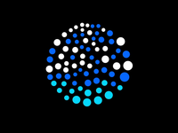 Moving dots graphics ae design art animation after effects motion clean dots