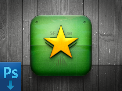 Game Icon (Free PSD) game icon ios freebie free psd practice war air force star app texture