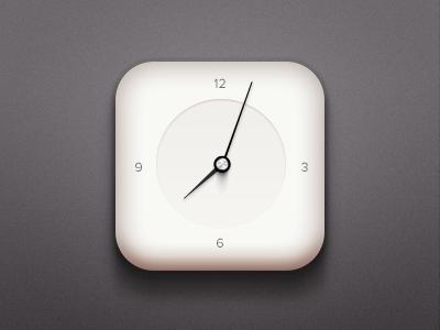 Clock (.psd) clock needles gauges minimal psd free freebie download icon