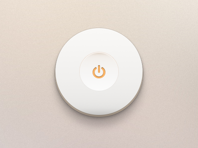 Off Button (.psd) switch button on off minimal ui toggle shutdown clean psd free freebie licht