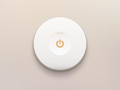 Off Button (.psd) switch button on off minimal ui toggle shutdown clean psd free freebie licht