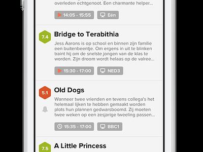 MovieMeister - Home Screen detail info movie movies dutch german listing tv guide flat minimal simple app iphone