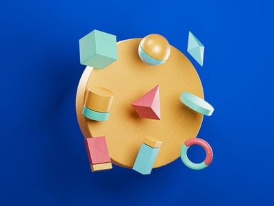 Iniens | Customer background illustration for a website backgrounds digital illustration blendercycles abstract trend cgi flatcolor geometric background website illustration 3d blender