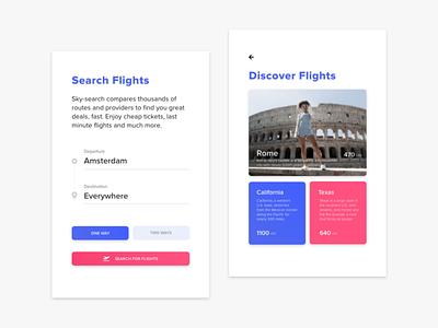 Flight Booking | Concept design pink travel app flight booking app design webdesign typography website ux design ux ui design ui flat design