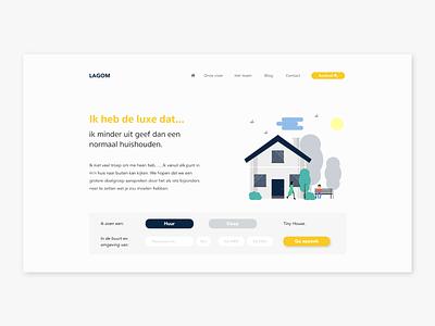 LAGOM Tiny houses | concept design ecomerce interface design filter search app typography web minimal website ux design ux ui design ui flat design