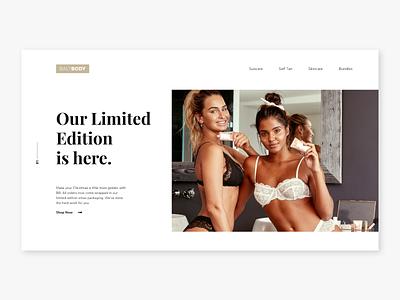 BaliBody concept design webdesign girls balibody app design typography web minimal website ux design ux ui design ui flat design