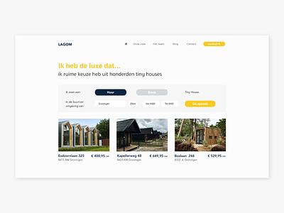 LAGOM Tiny houses | ecommence concept design ecommence lagom webdesign branding app design app minimal web website ux design ux ui design ui flat design