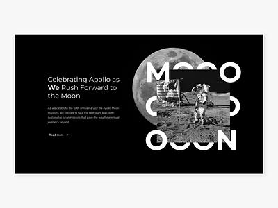 Moon landing page #003 dark mode dailyui webdesign typography web minimal website ux design ux ui design ui flat design dailui moon 003 daily ui 003
