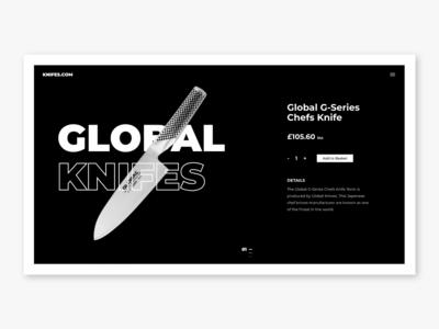 Global Knifes   Website Concept