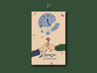Reverse: Evanescent illustration design bookcoverdesign bookcover
