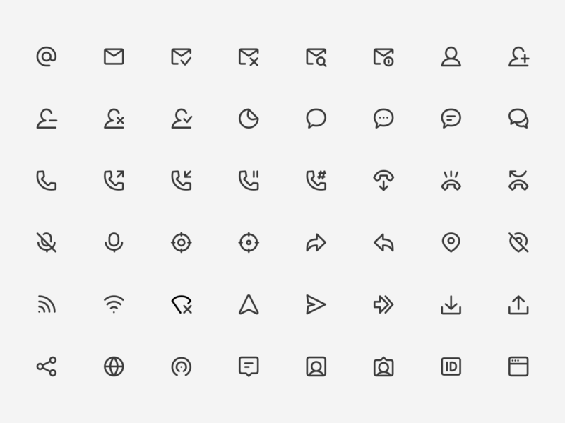 Super Basic Icons - Communication Set 🛰️ icon pack icon set iconography communication design elements components library sketch templates website web design with sketch web icons ui kit symbols design system interface figma freebie sketch ux ui