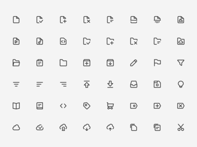 Super Basic Icons - Content Set 🗂️