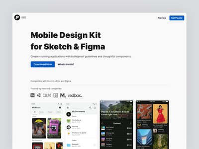 Plaster 2 is live on Product Hunt! 😺 ios material figmadesign mobile icons ui kit symbols design system interface product hunt figma sketch ux ui