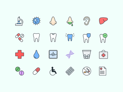 Pioneer Icons — Healthcare 💊 pioneer icons icon set body face nose doctor healthcare icons illustration design symbols freebie design system interface sketch ux ui