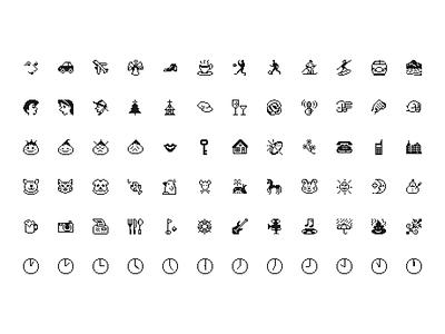 Emoji 1997—Original Emoji from Softbank JP [Freebie] ✨ iconography illustration design symbols freebie design system interface softbank retro 1997 emoji icons components figmadesign figma sketch ux ui