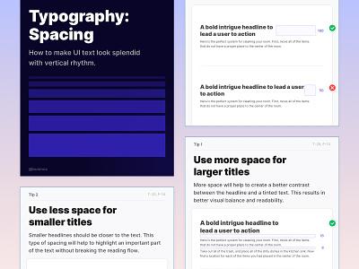 Typography: Spacing ↕️ illustration design symbols graphic design freebie spacing tutorial ui tip components typography ui kit design system interface sketch figma ux ui