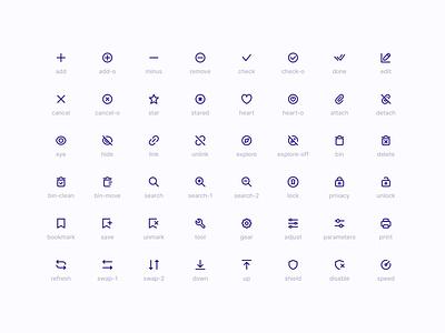 Super Basic Icons — Action Set 🔧 iconography illustration outline vector stroke branding graphic design design components symbols freebie design system interface icons figma sketch ux ui