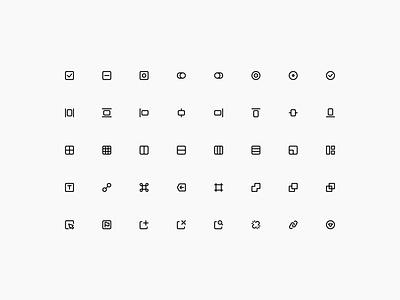 Super Basic Icons — Interface Set 💻 graphic design free icons icon set iconography branding logo illustration design symbols components freebie design system interface figma sketch ux ui