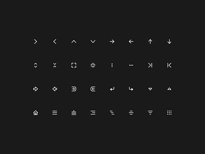 Super Basic Icons — Navigation Set  super illustration design symbols vector outline basic branding logo graphic design design system interface dots menu navigation sketch figma icons ux ui