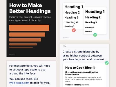 How to Make Better Headings copy headline text logo graphic design illustration blog branding design symbols freebie design system typography headings interface figma sketch ux ui