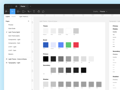 Plaster — Light Theme ☀️ figma template figma design system gui material library design symbols components ios android mobile ui kit design system interface figma sketch ux ui
