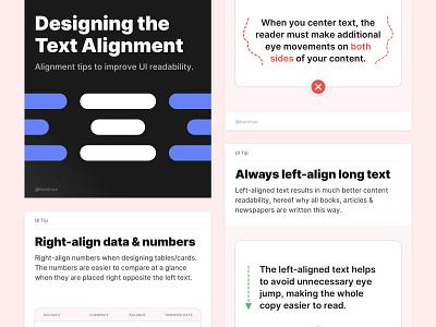 Designing the Text Alignment  web design design tuts typography alignment components symbols freebie ui tips design tips tutorial design system interface sketch figma ux ui