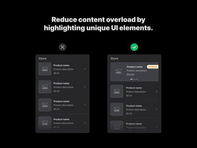 Reduce content overload branding visual hierarchy layout grid content design symbols freebie design system interface sketch uitip figma ux ui