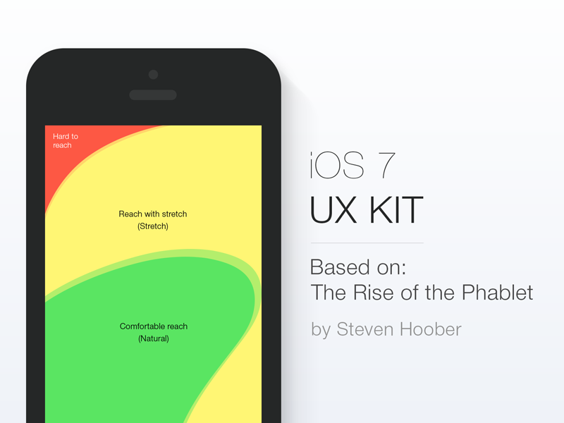 iOS7 UX Kit guidelines app ios7 ui ux phablet freebie zones psd interaction iphone interface