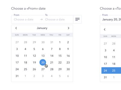Date Range Picker  Calendar ux ui calendar date range date picker range picker