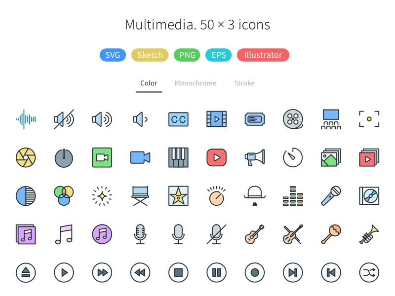 multimedia  pioneer icons