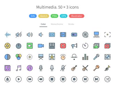 Multimedia - Pioneer Icons