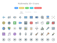 multimedia  pioneer icons big