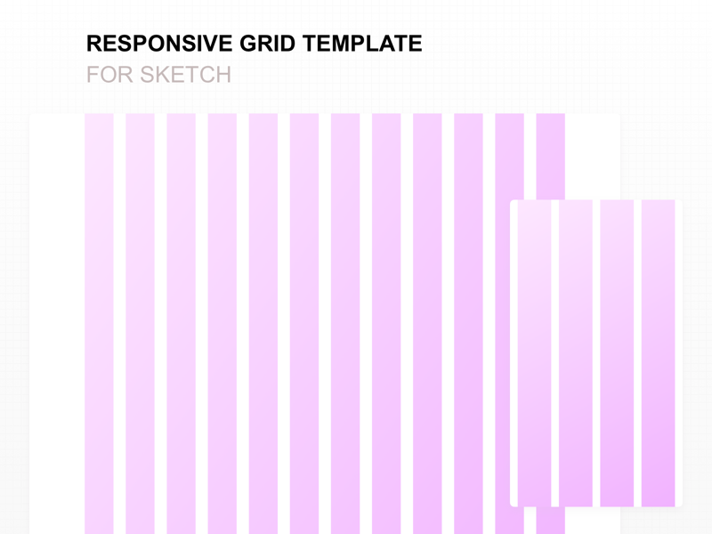 responsive grid template for sketch by bunin dmitriy dribbble